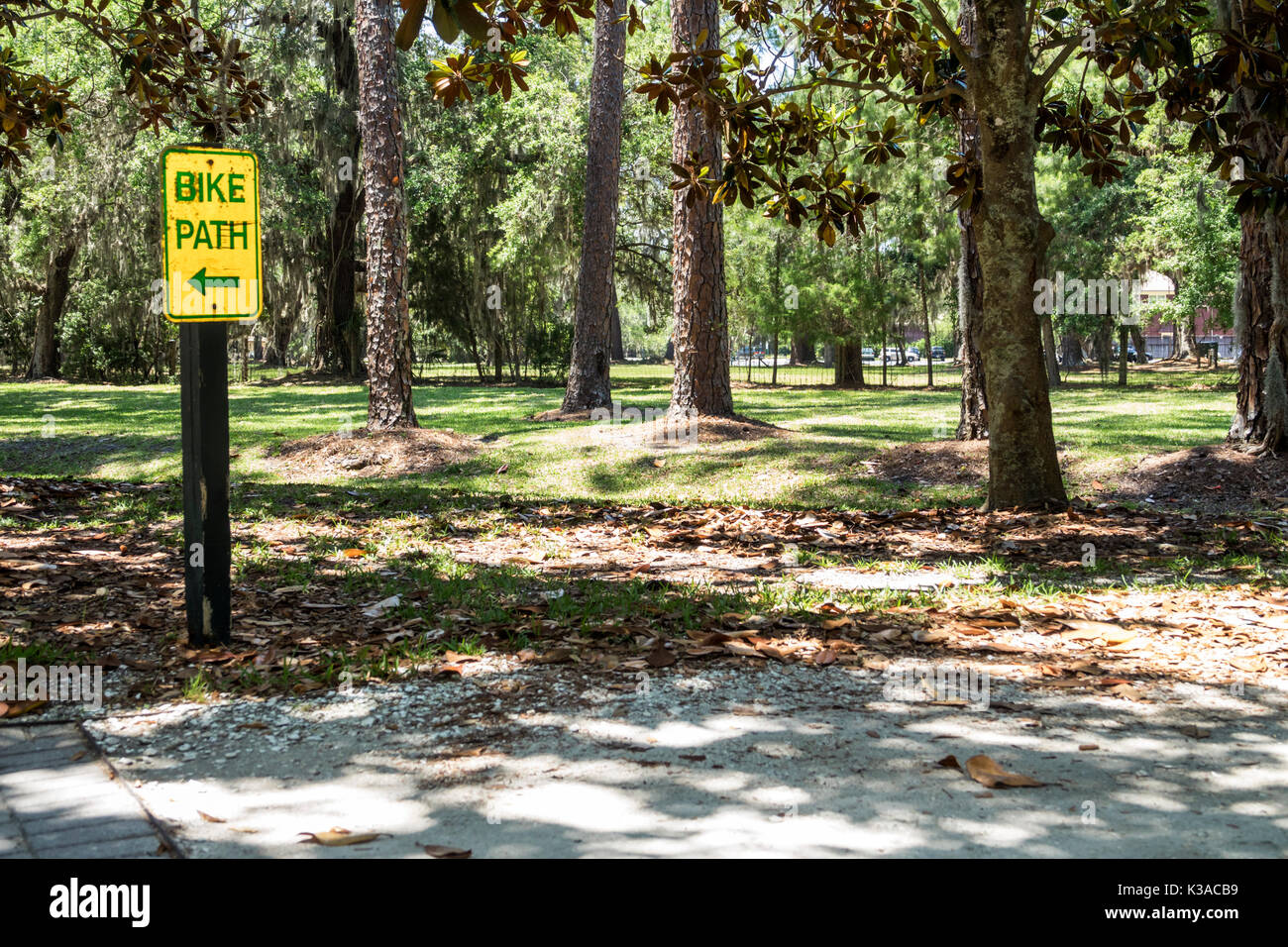 Bike Path Sign United States Stock Photos Bike Path Sign United