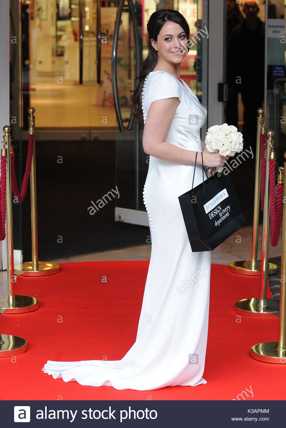 Pippa middleton inspired dress by debenhams debenhams launch debenhams launch their new dress inspired by pippa middletons royal wedding bridesmaids dress at debenhams oxford street in london uk on the 26th october ombrellifo Gallery