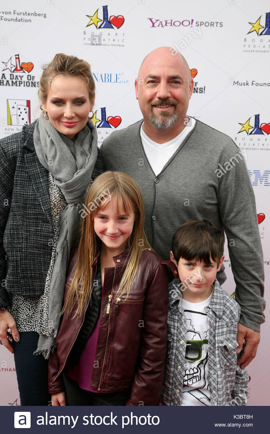 Adam Venit Trina Venit >> Trina Venit, Adam Venit and kids. A Day Of Champions Benefiting The Stock Photo, Royalty Free ...