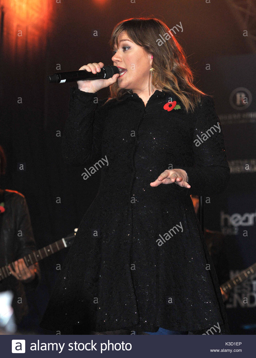 Kelly Clarkson. Regent Street christmas lights switch on in London ...