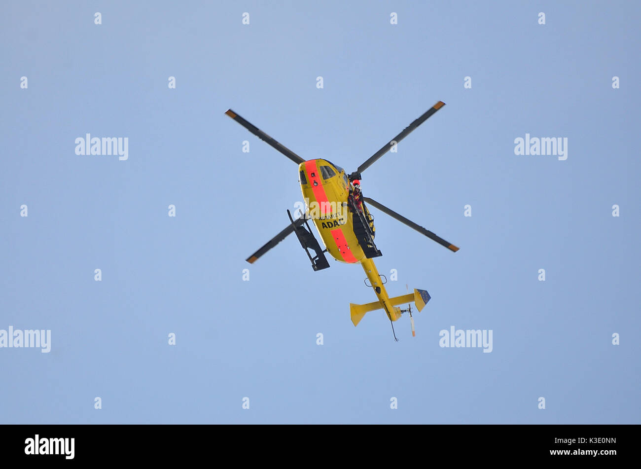 174th ahc 2015 reunion - Germany Bavaria Rescue Helicopter Aerial Rescue Stock Image
