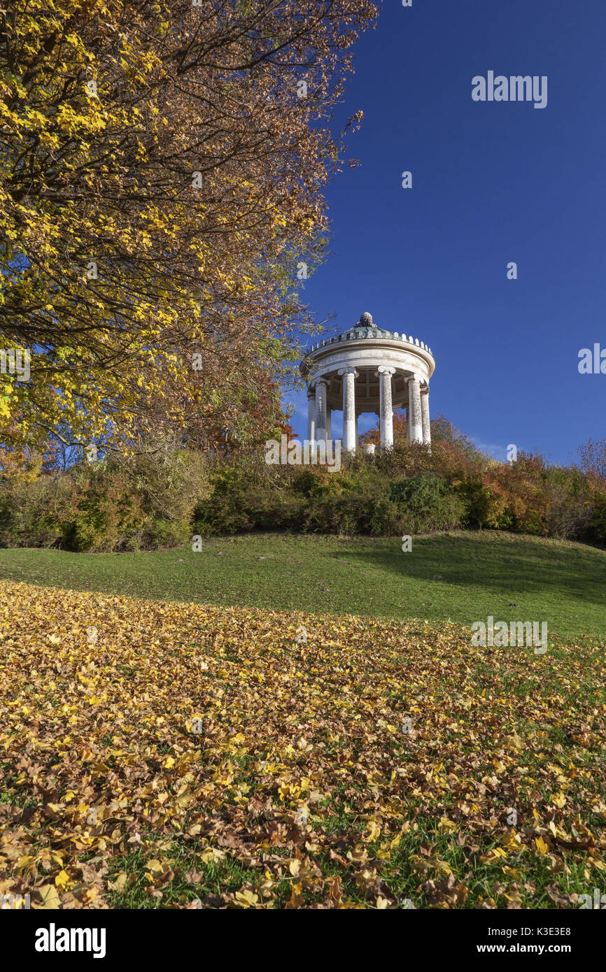 Monopteros temple in the English garden, Munich, Lehel, Upper Stock ...