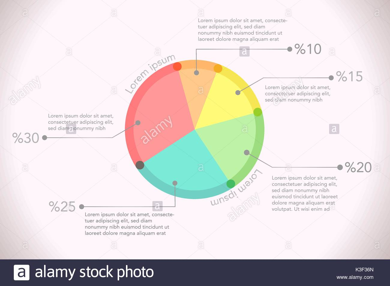 Simple colored pie chart desing with background vector simple colored pie chart desing with background vector illustration nvjuhfo Image collections