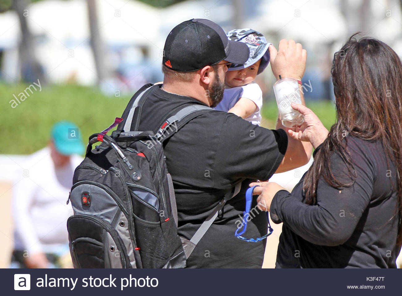 Kevin James And Kannon Valentine James. Kevin James U0027King Of Queensu0027 Was  Spotted On The Beach In Maui Hawaii With His Wife And New Son Kannon.