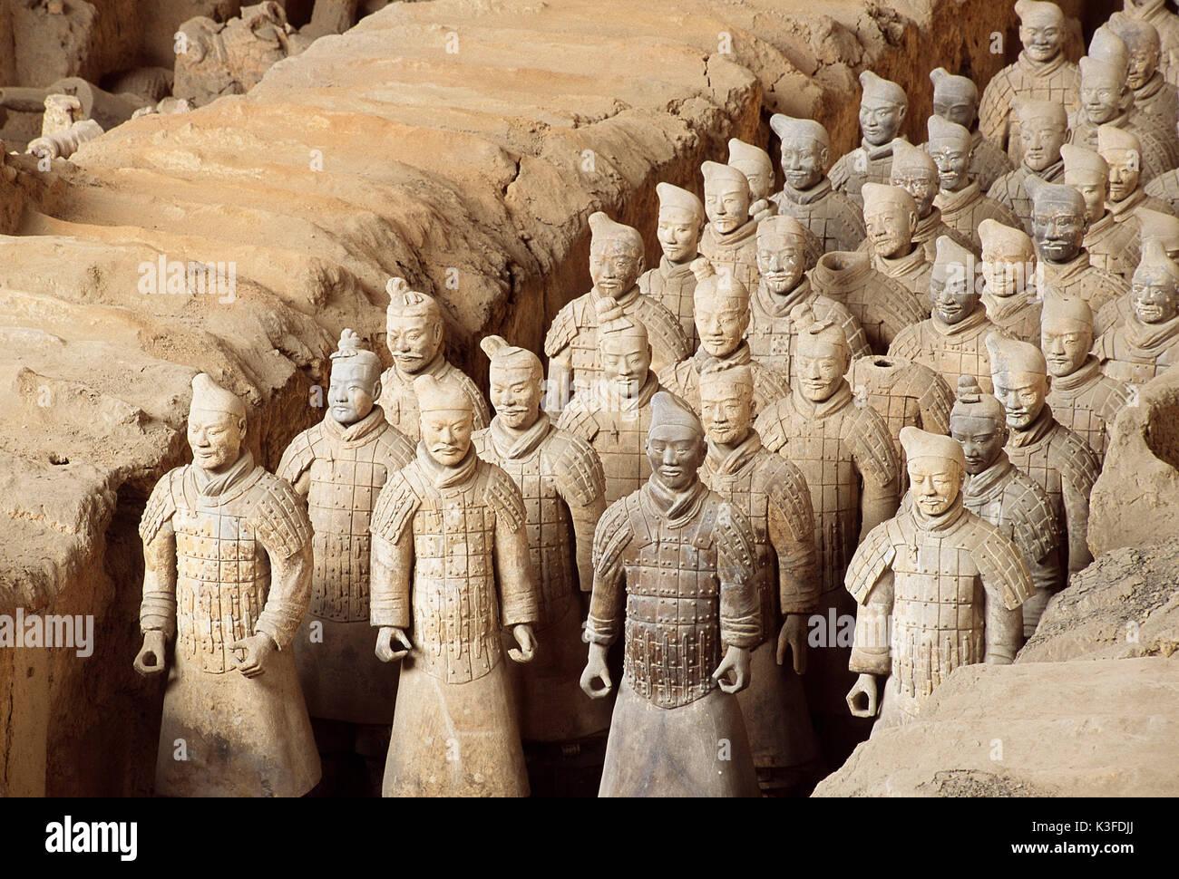 Xi An Armee Terrakottafiguren Of The Emperors Qin Shi Huangdi Sian Hsian Province Shaanxi