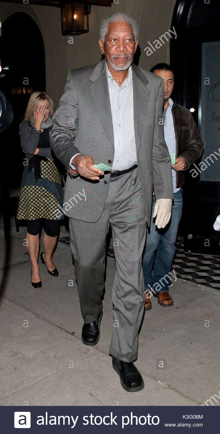 morgan freeman actor morgan freeman wearing what appeared to be a white surgical glove covering