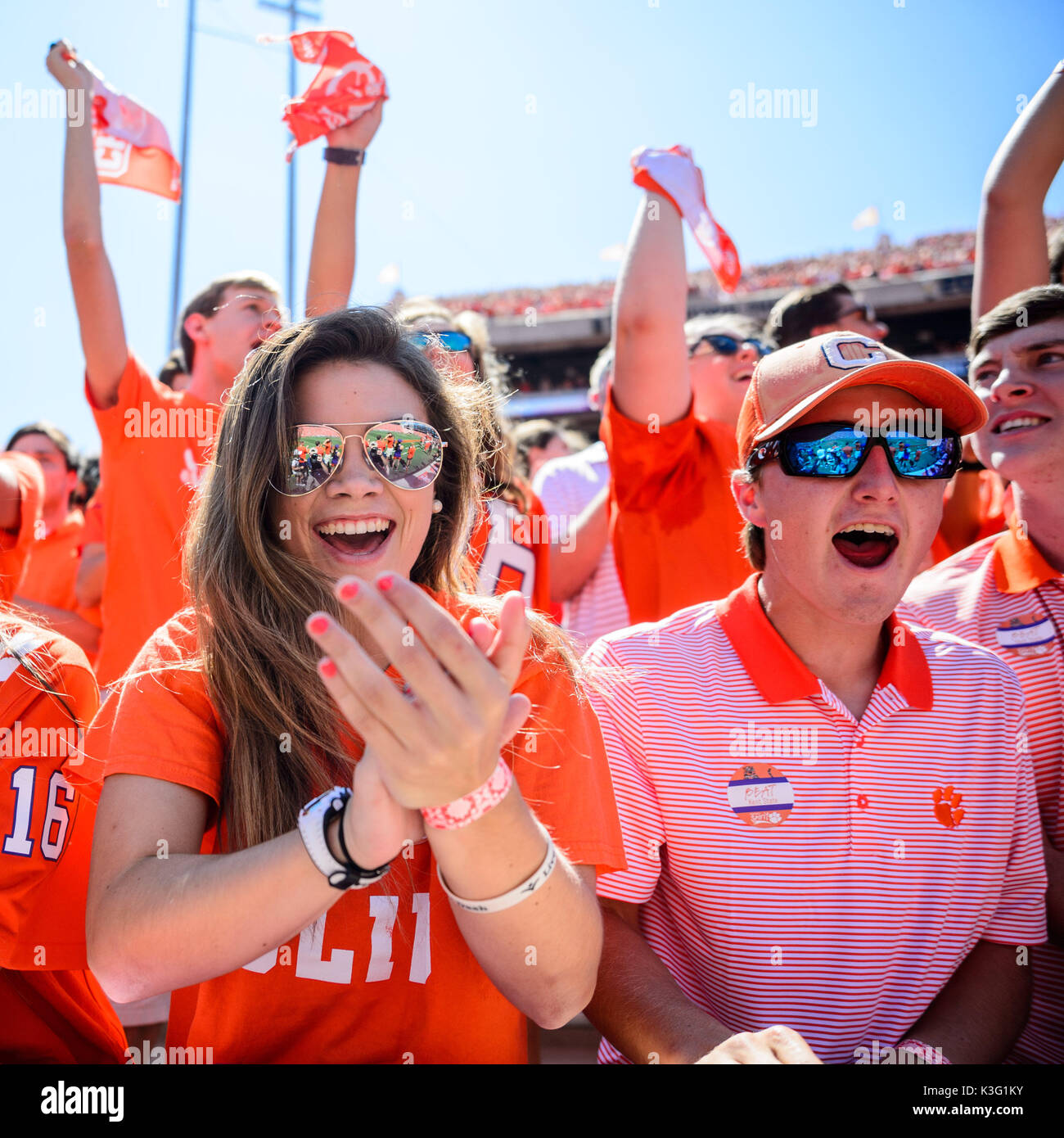 Female college football fans