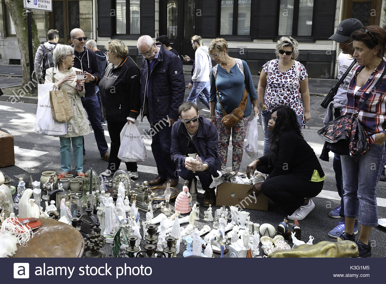 Lille france 2nd sep 2017 people visit the braderie de lille flea stock photo royalty free - Braderie de lille 2017 date ...