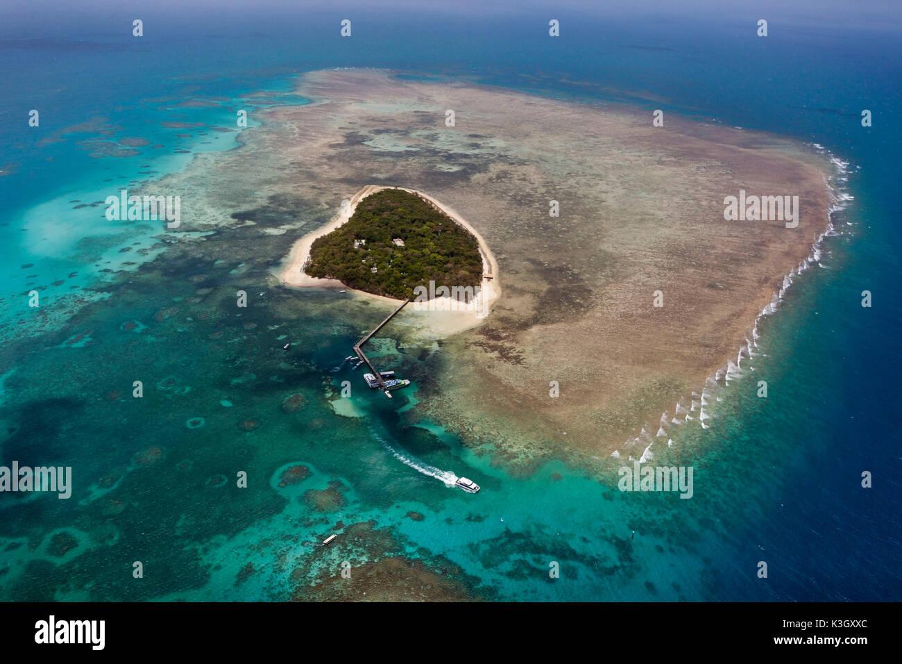 Dunk Island Great Barrier Reef Australia: Green Island Queensland Stock Photos & Green Island