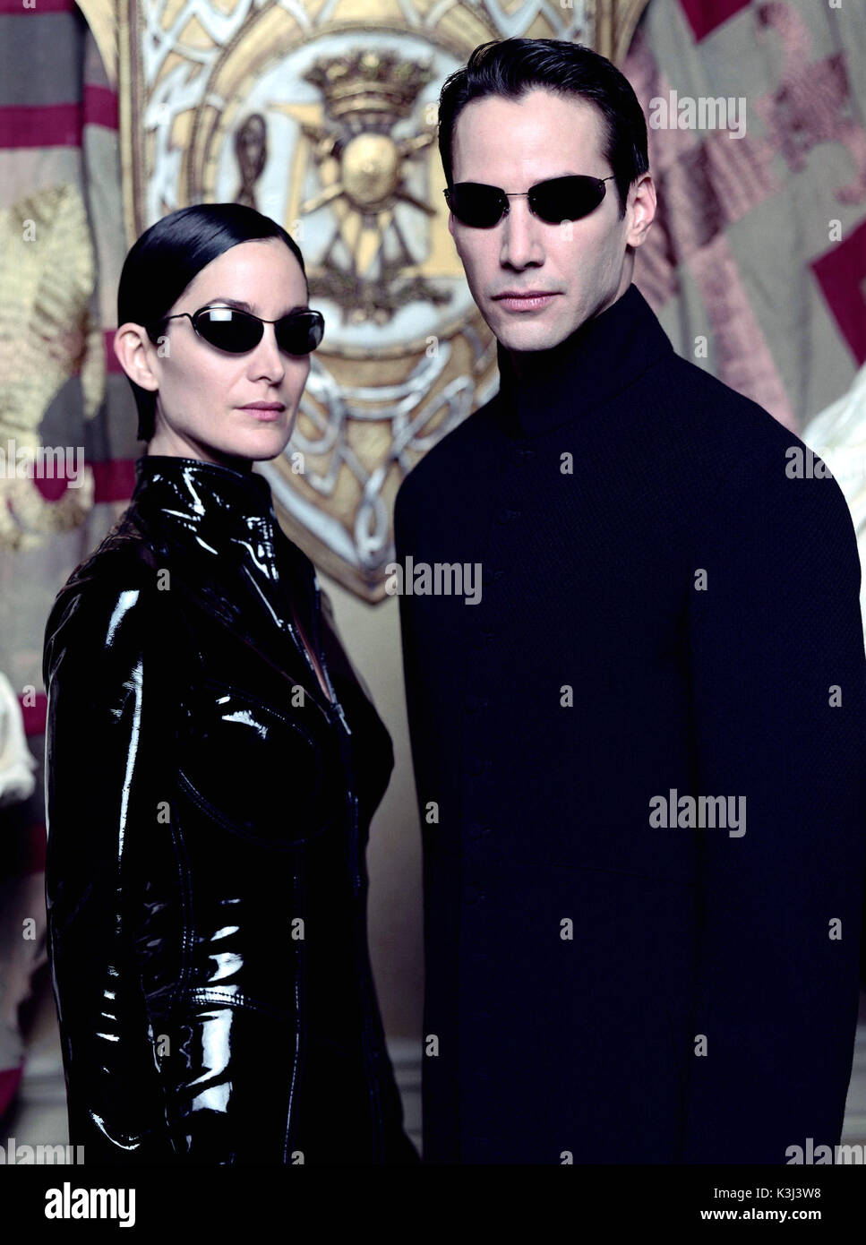 the matrix reloaded carrie anne moss as trinity keanu reeves as neo