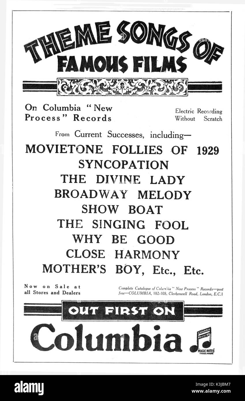 although silent films had theme songs and music which were played