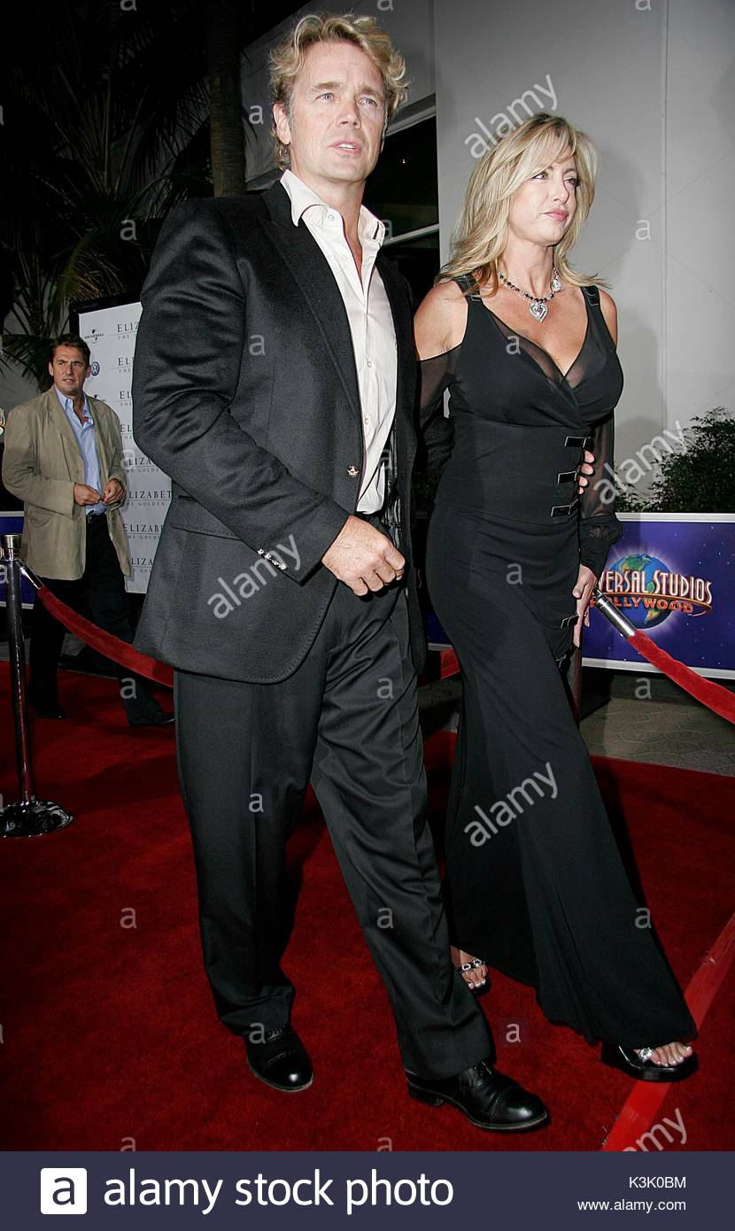 "Elly Castle Stunning john schneider and elly castle at the premiere of ""elizabeth: the"