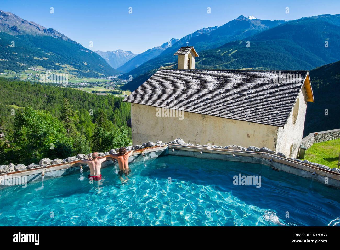 Bagni Vecchi, Bormio, Valtellina, Lombardy, Italy. Thermal wellness ...