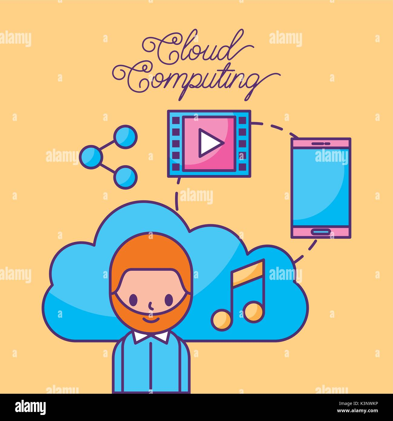 Networking Cloud Computing: Technology Innovation Cloud Computing Stock Photos