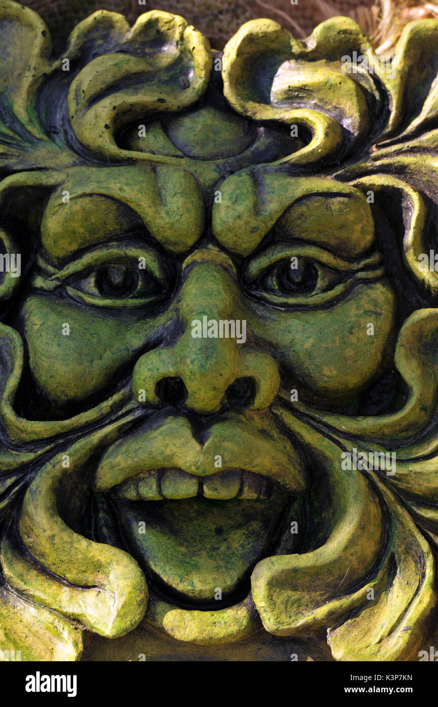 Merveilleux The Green Man Garden Statuary Ornaments Folklore Historical Figures  Witchcraft Iconic Garden Figures