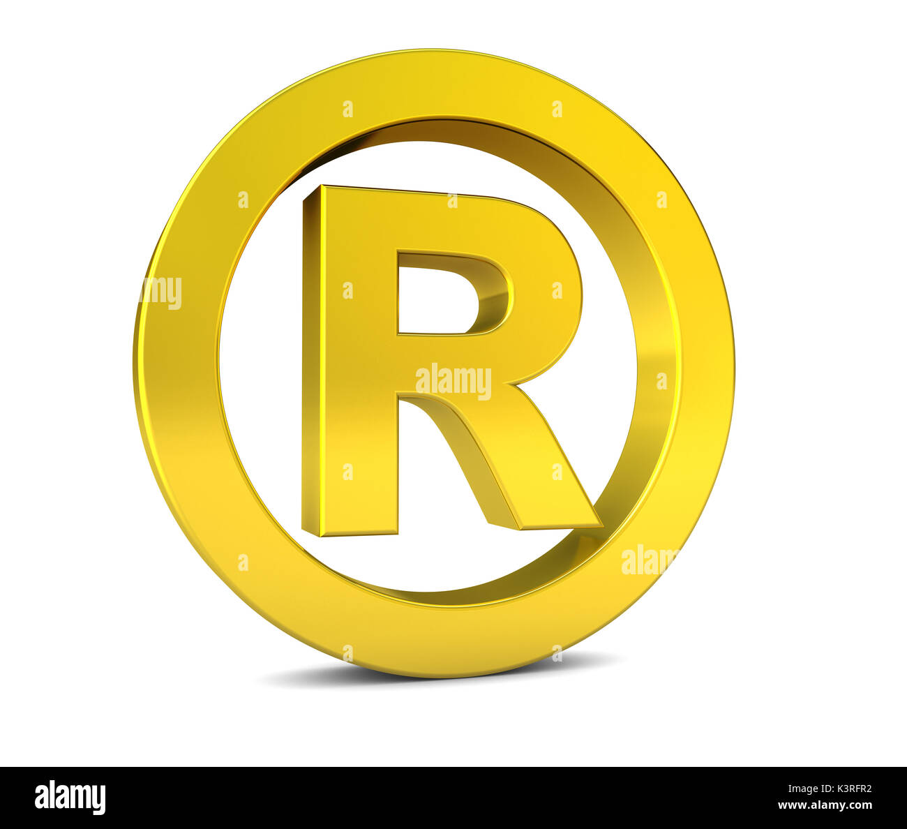 Registered trademark symbol stock photos registered trademark business registered trademark golden sign and symbol 3d illustration icon on white background stock biocorpaavc Gallery