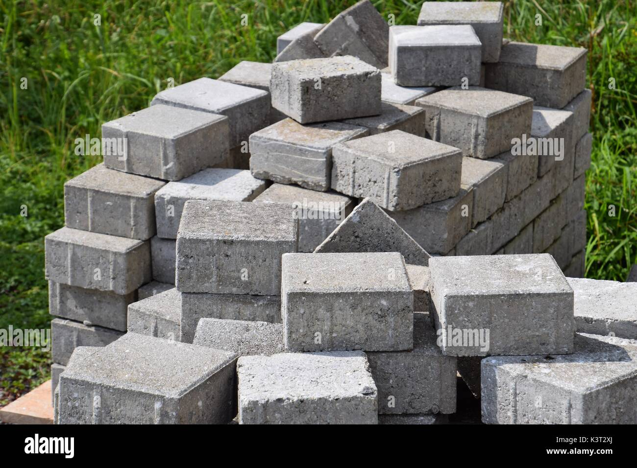 Stone Building Materials : Bauplatz stock photos images alamy