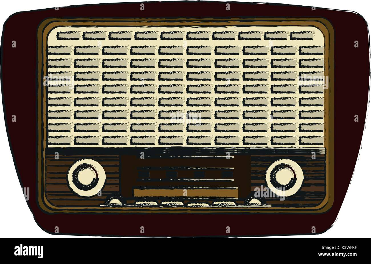 Isolated retro radio design Stock Vector Art & Illustration, Vector ...
