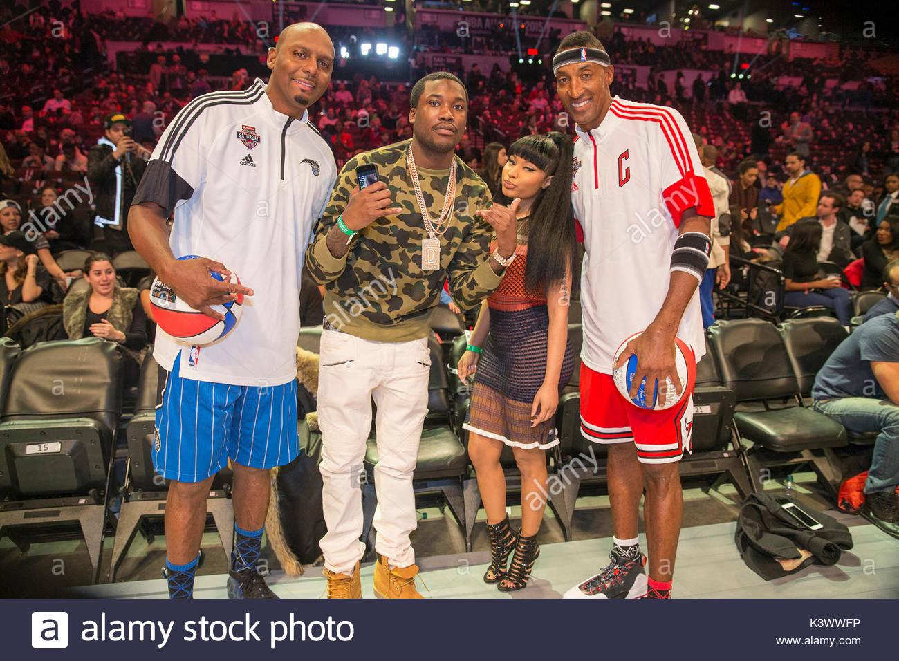 Anfernee Hardaway Meek Mills Nicki Minaj and Scottie Pippen