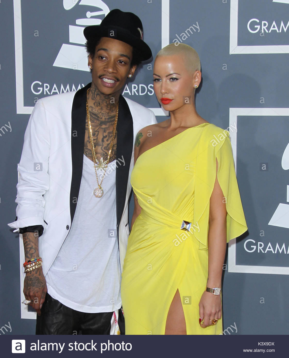 Pictures of wiz khalifa pictures of celebrities - Wiz Khalifa And Amber Rose Celebrities Arrive At The 54th Annual Grammy Awards At The