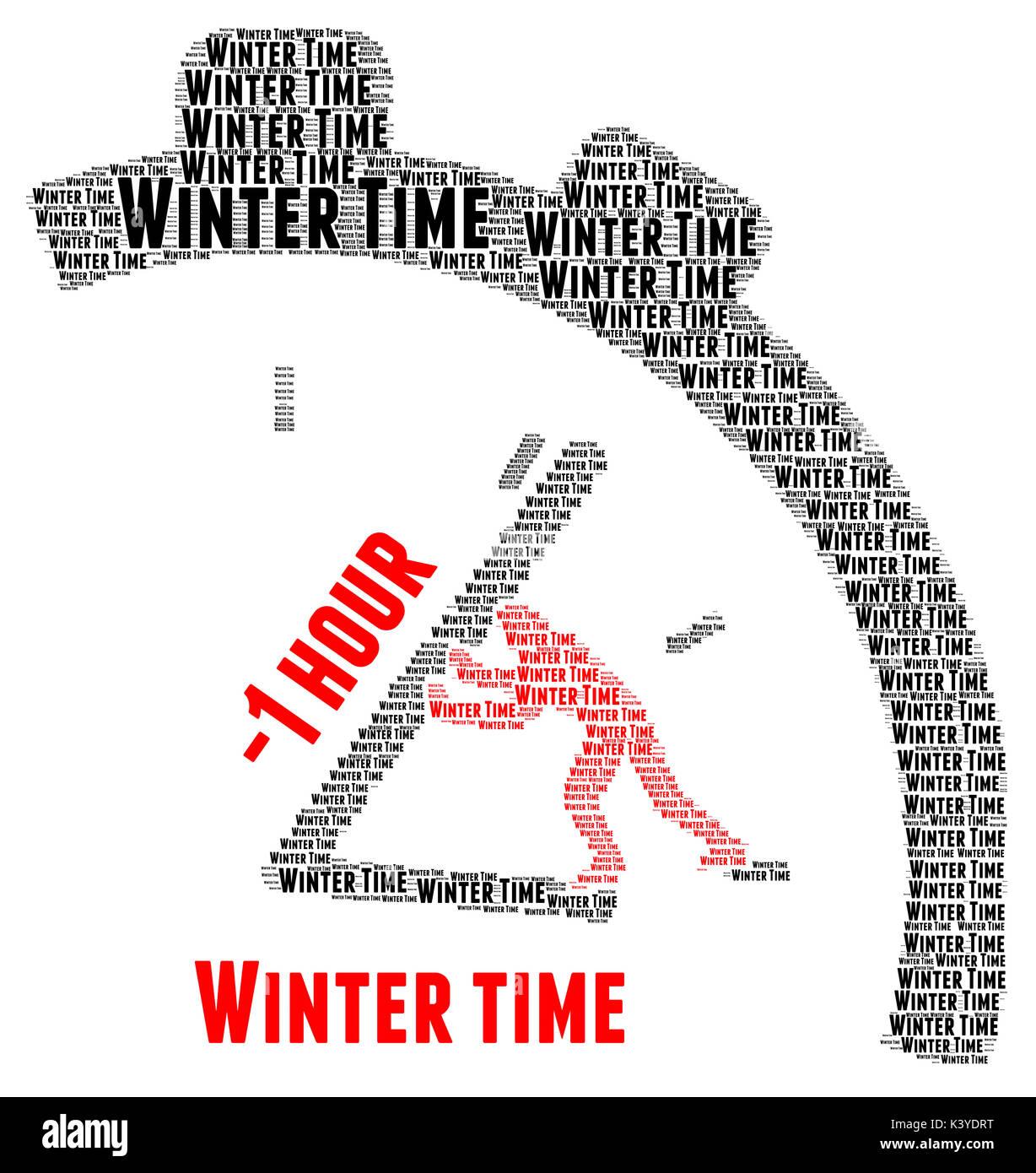Winter time change illustration
