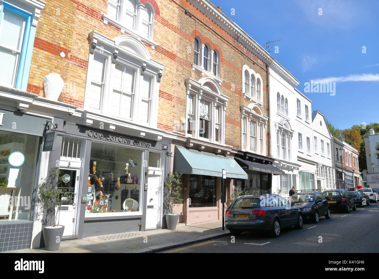 Good Portland Road In Notting Hill, London, UK   Stock Image Photo Gallery