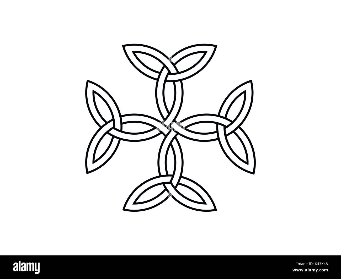 Cross tattoo symbol stock photos cross tattoo symbol stock triquetra symbol vector illustration stock image buycottarizona