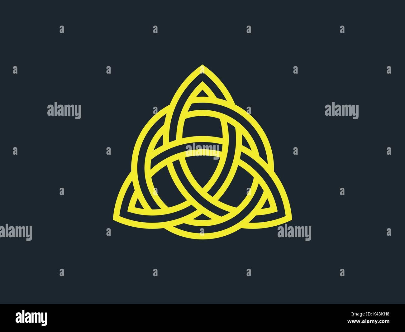 Triquetra Trinity Knot Celtic Symbol Of Eternity Vector Stock