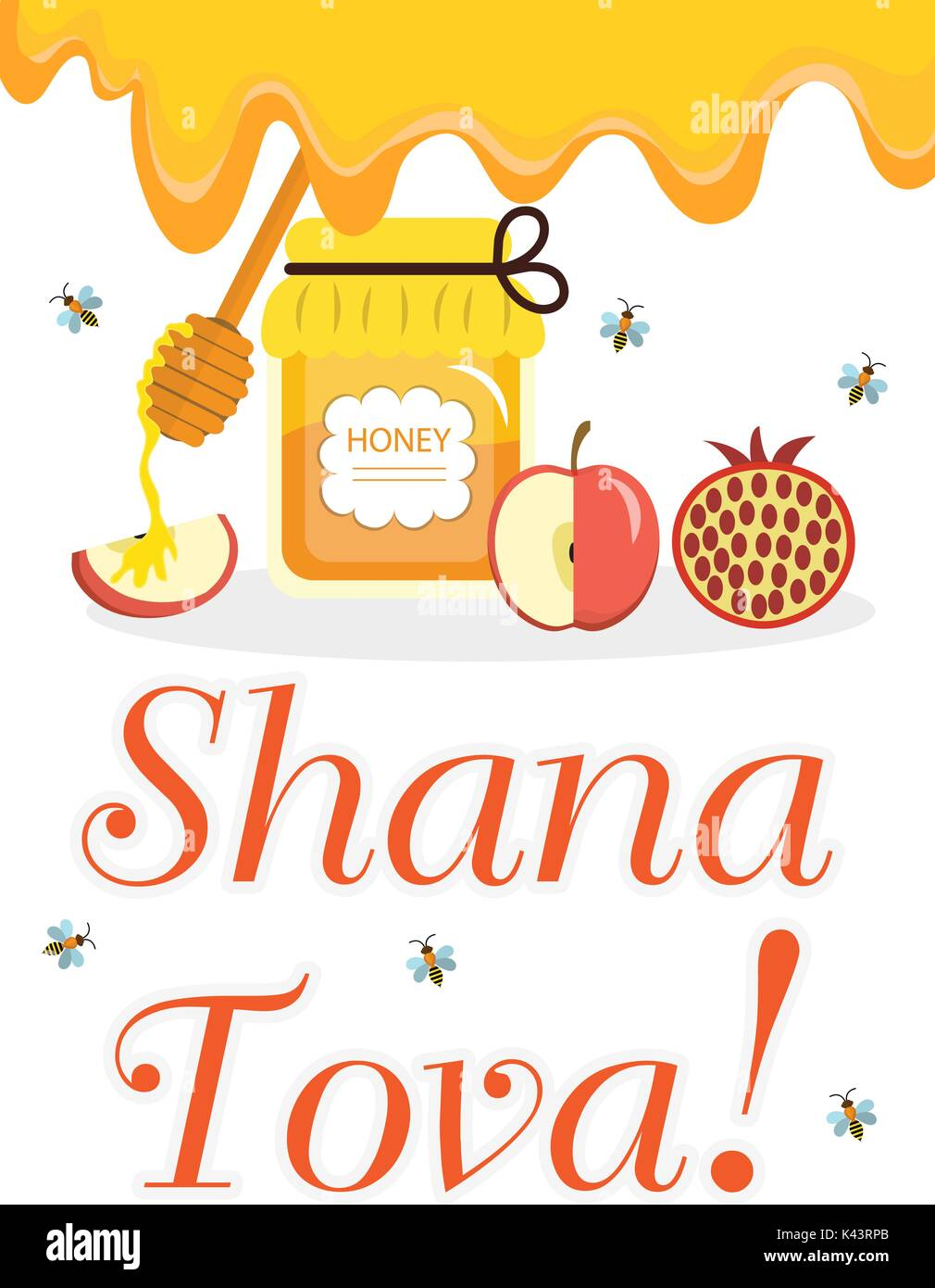 Greeting Card For The Jewish New Year Rosh Hashanah Shana Tova