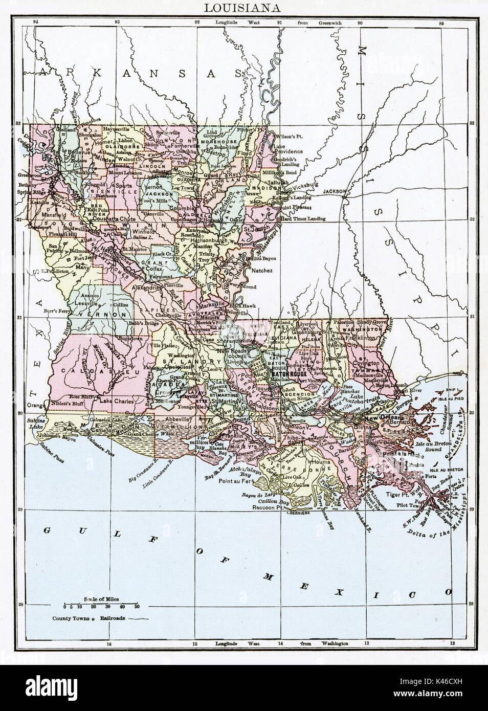 Shreveport Louisiana Area Map Stock map makers