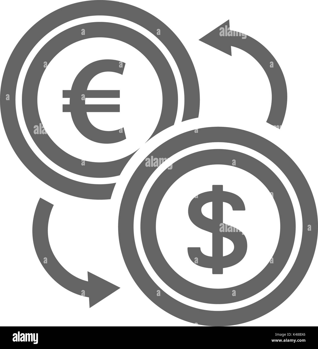 Convert currency stock photos convert currency stock images alamy simple currency converter line icon symbol and sign vector illustration design editable stroke biocorpaavc Gallery