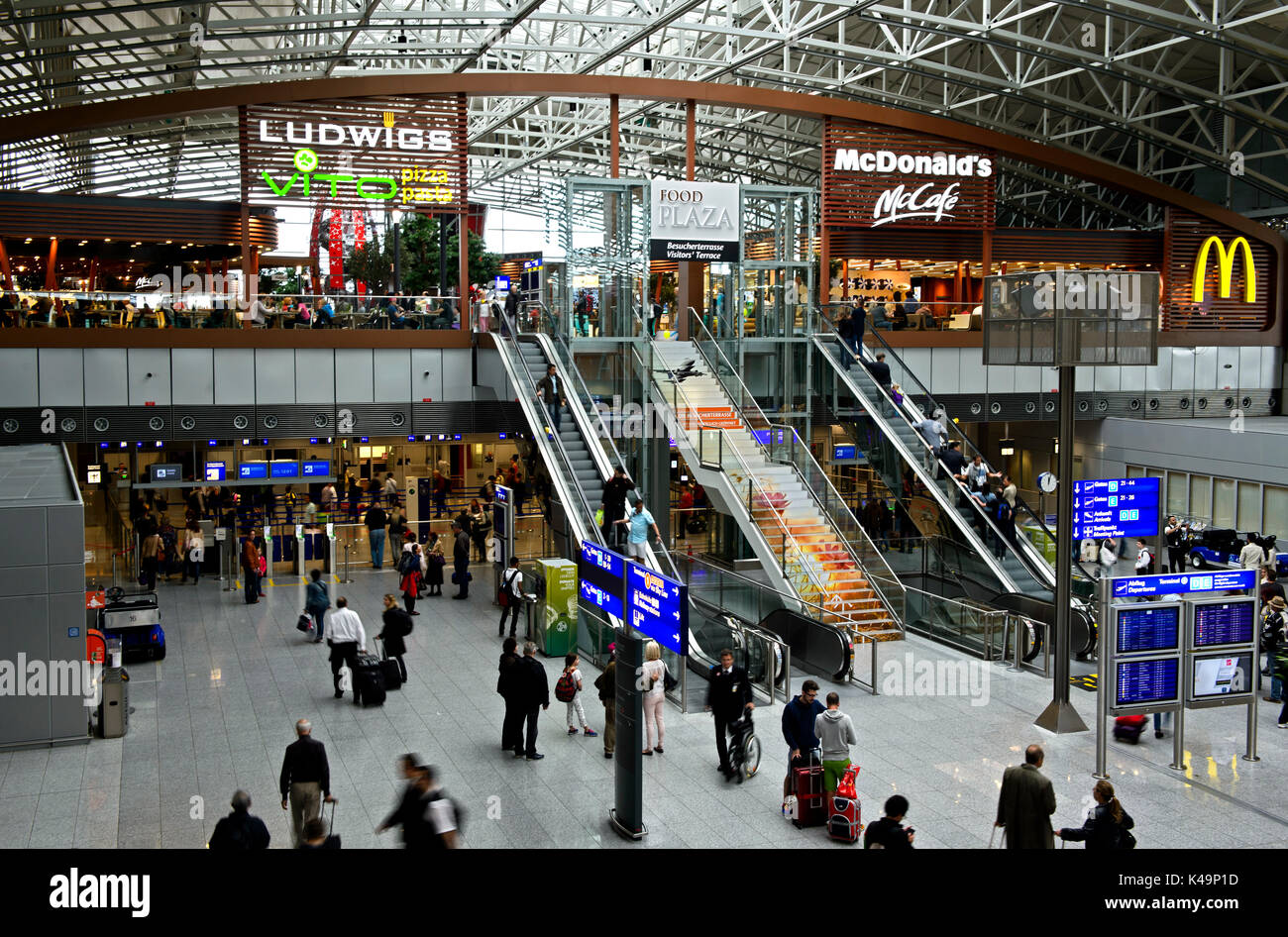 Terminal 2 Of The Frankfurt Airport Frankfurt Germany Stock Photo