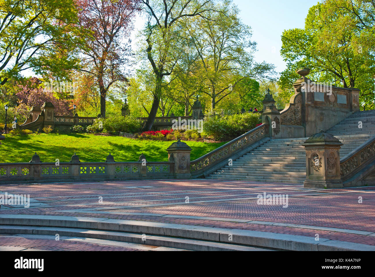 Stock Photo   View Of Bethesda Terrace Stairs In Central Park, New York