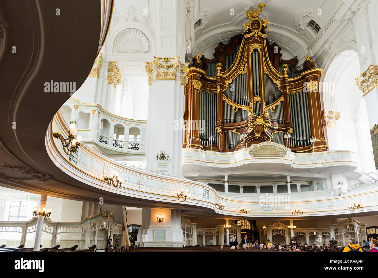 A J Hamburg organ interior view st michaelis church also hamburger michel