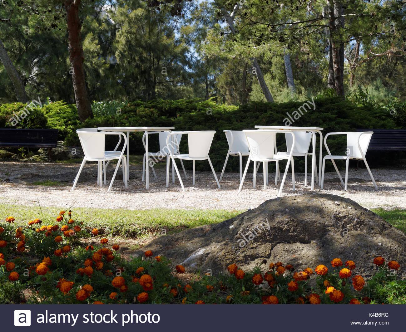White garden furniture  Casa de Santa Maria  Cascais  Portugal   Stock Image. Metal Garden Furniture Stock Photos   Metal Garden Furniture Stock