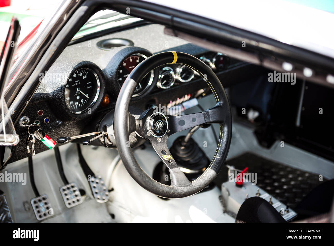 Alfa Romeo Gta Classic Race Car Interior Stock Photo 157613580