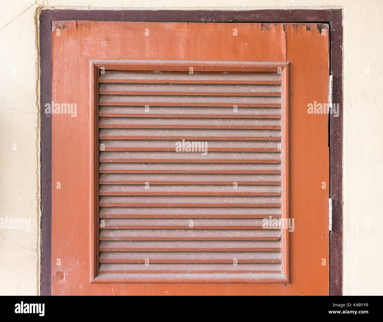 Old wooden door with louver for the ventilationstorage room in the school & Old wooden door with louver for the ventilationstorage room in ...