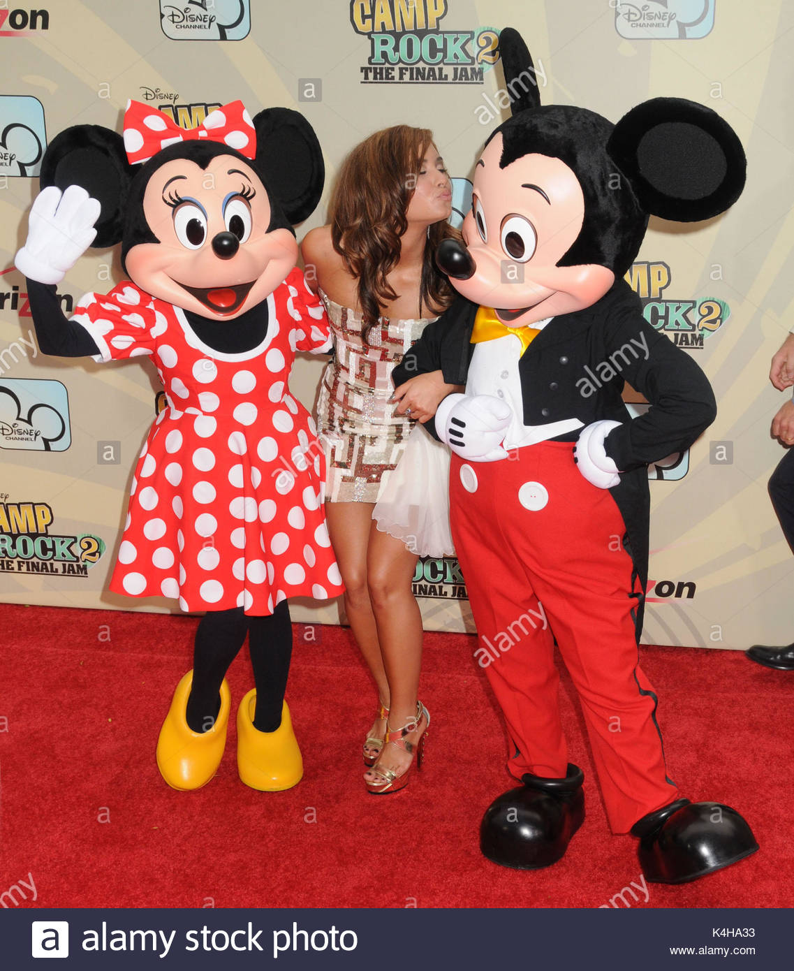 minnie mouse, demi lovato and mickey mouse. singer/actress demi