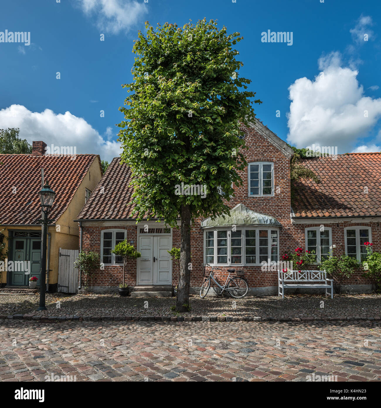 Mogeltonder little danish village in the southwest of jutland stock photo royalty free image - The jutland small house ...