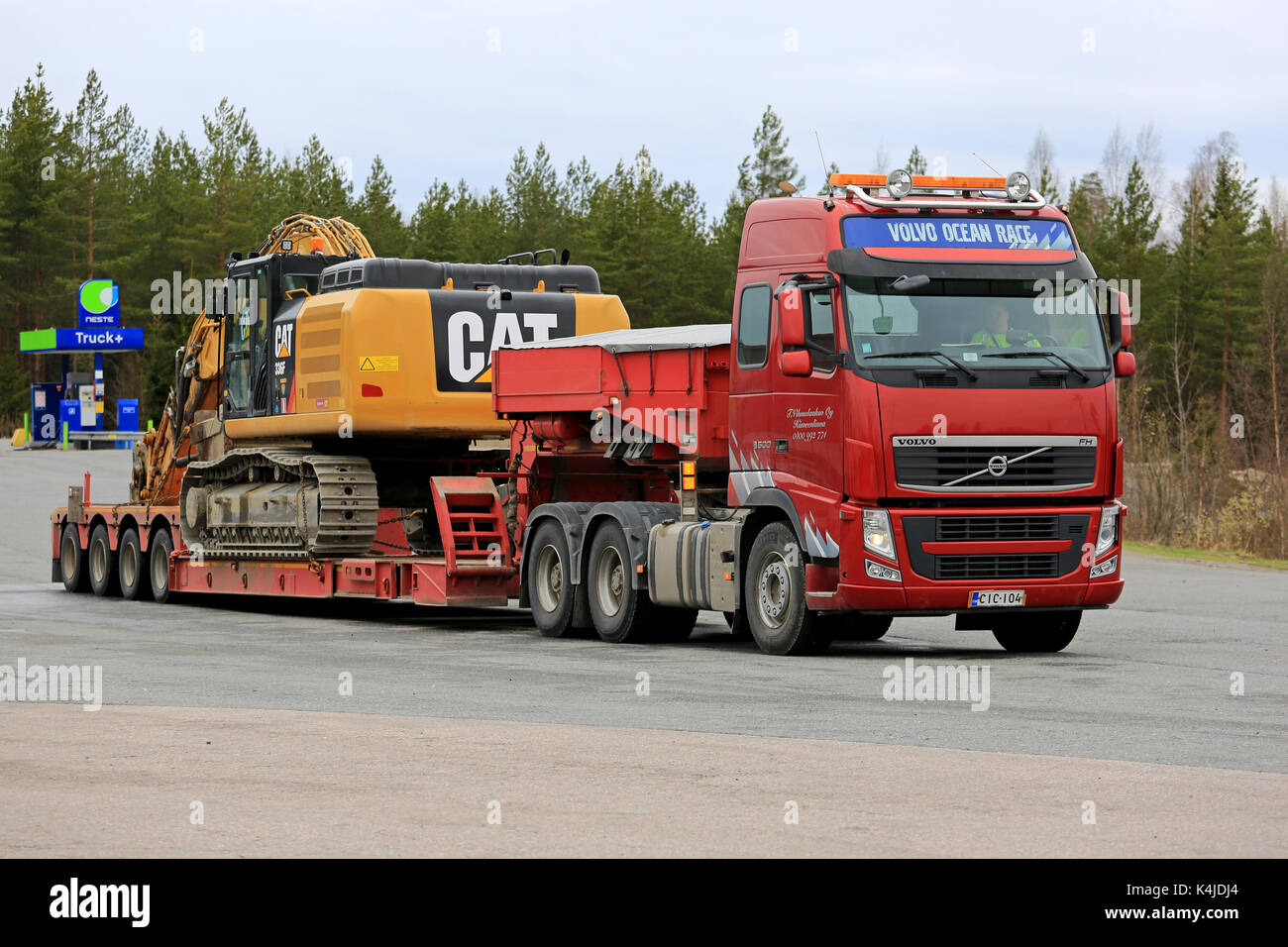 Orivesi Finland May 17 2017 Volvo Fh Semi Gets Ready To Haul A