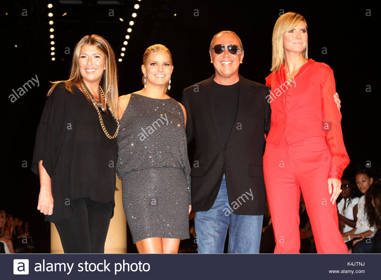 Nina Garcia Jessica Simpson Michael Kors and Heidi Klum. The judges of the u0027Project Runwayu0027 Season 8 Season Finale Fashion Show pose at the tents at ...  sc 1 st  Alamy & Nina Garcia Jessica Simpson Michael Kors and Heidi Klum. The ...