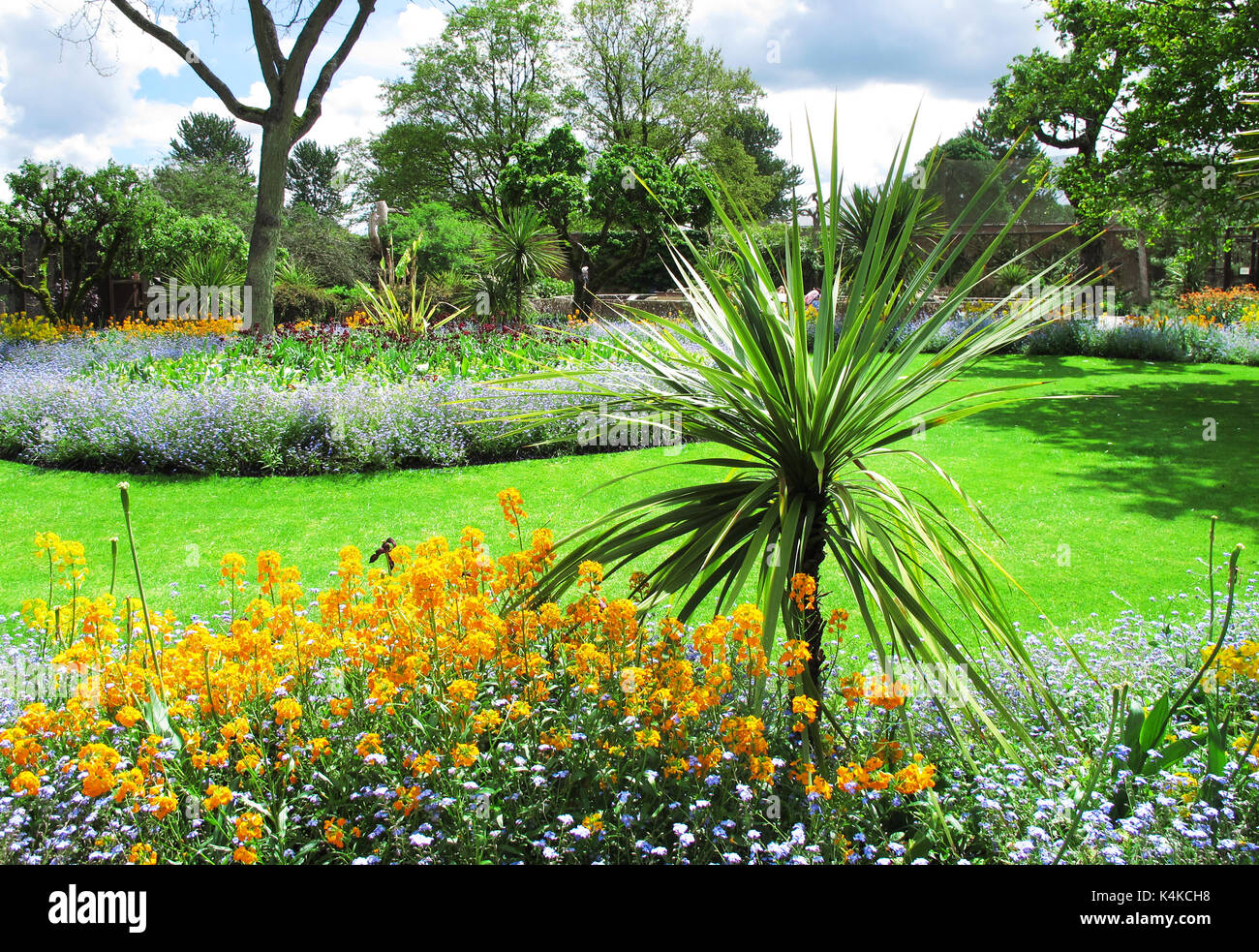 The Landscaped Gardens At Cotswold Wildlife Park Near Burford, Oxfordshire.    Stock Image
