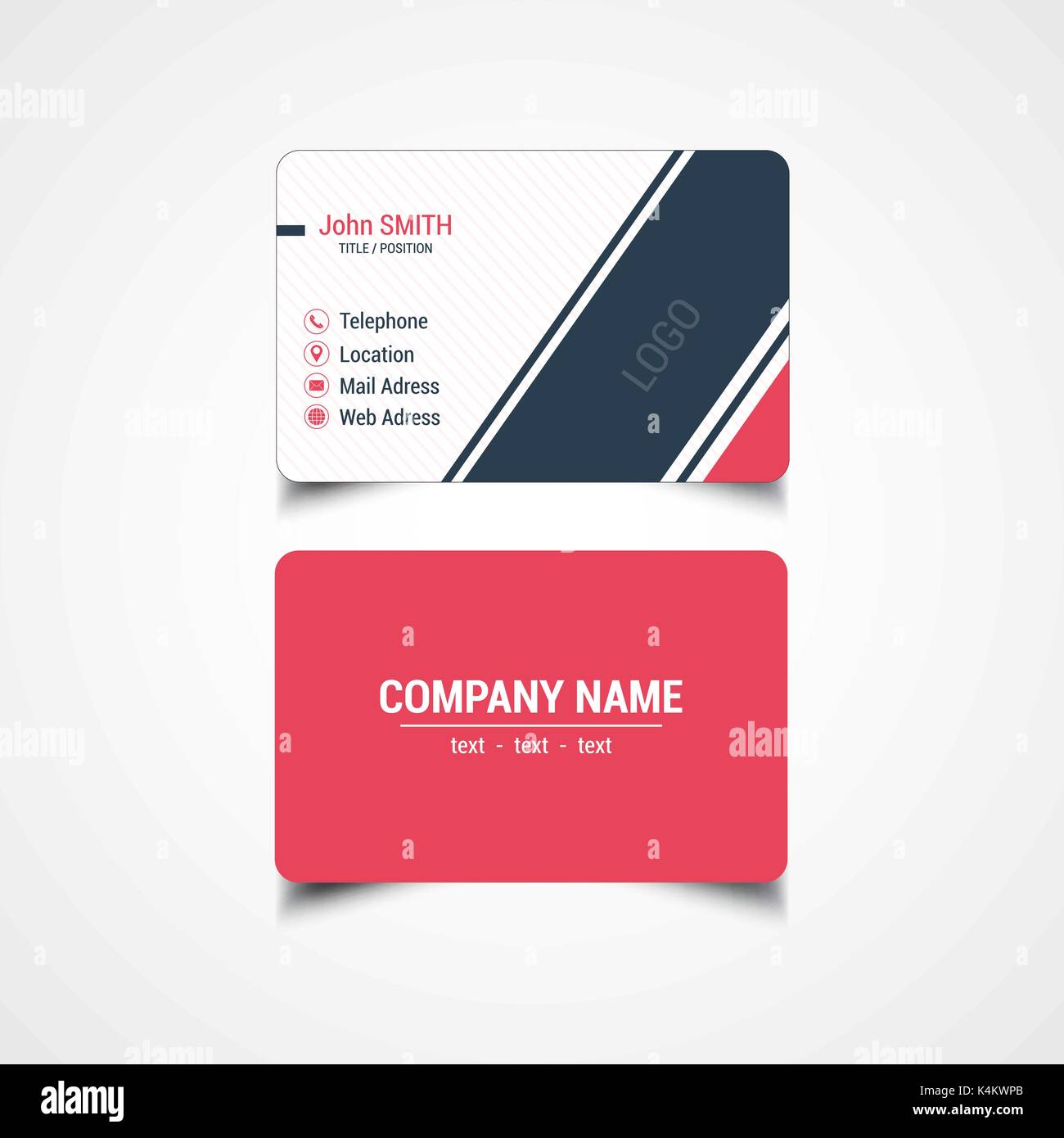 Round corner business card template vector illustration stock round corner business card template vector illustration friedricerecipe Image collections