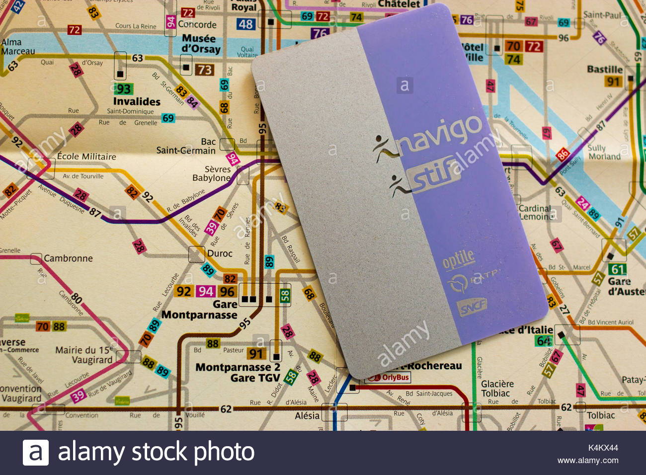 France Subway Map.Paris France 10 August 2017 Transportation Subscription Card