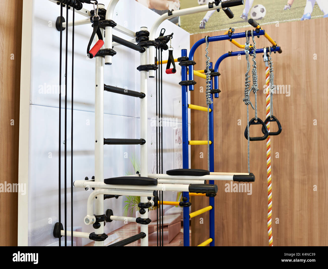 Home Sports Complex With A Horizontal Bar, Parallel Bars And A Gymnastics Wall  Bars