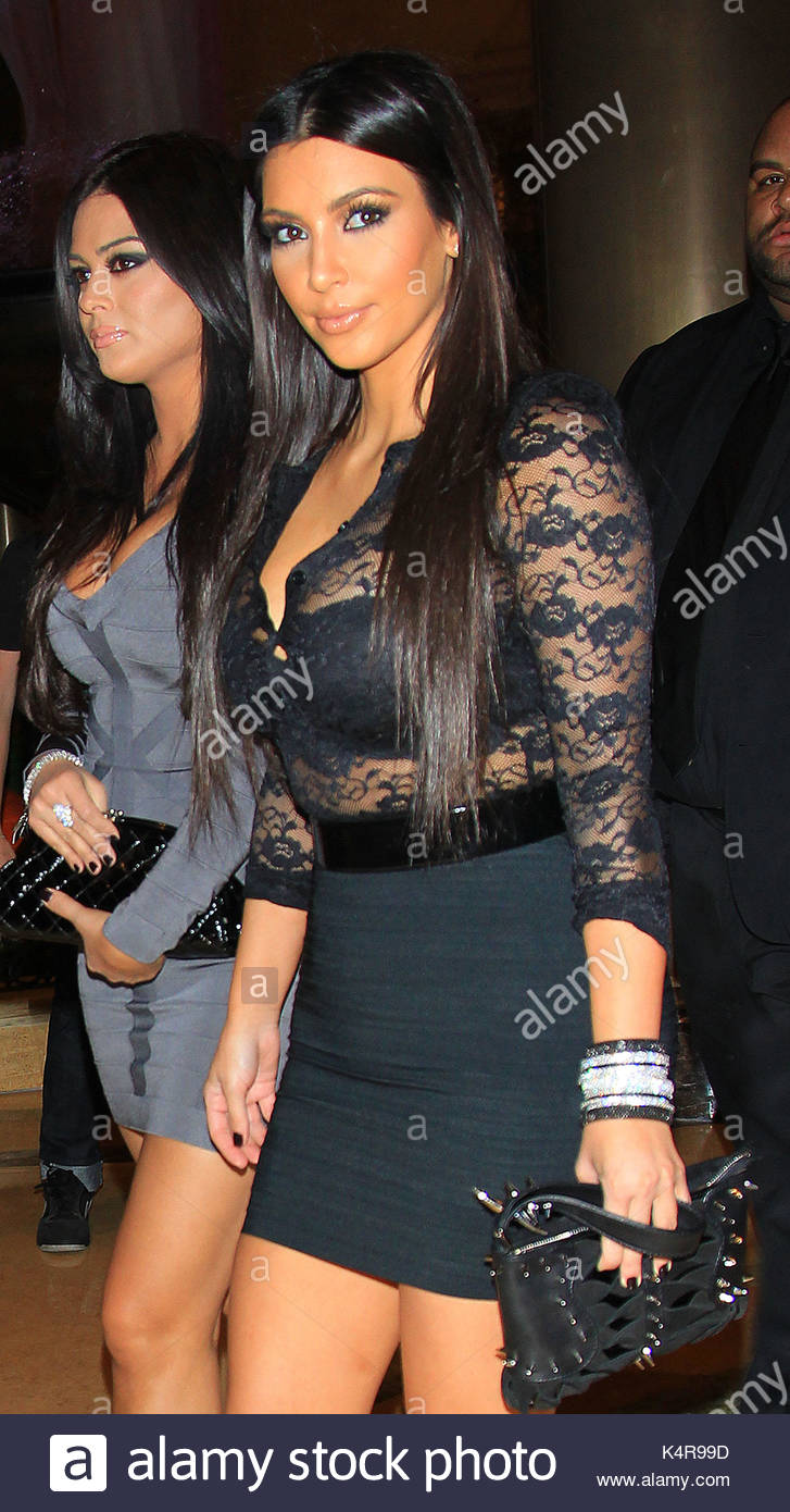 Kim Kardashian Kim Kardashian Wears A Lacy See Through Top When
