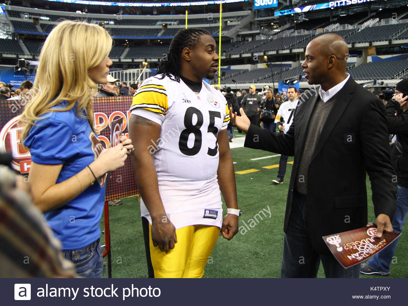 Pittsburgh Steelers tight end David Johnson 85 Kevin Frazier