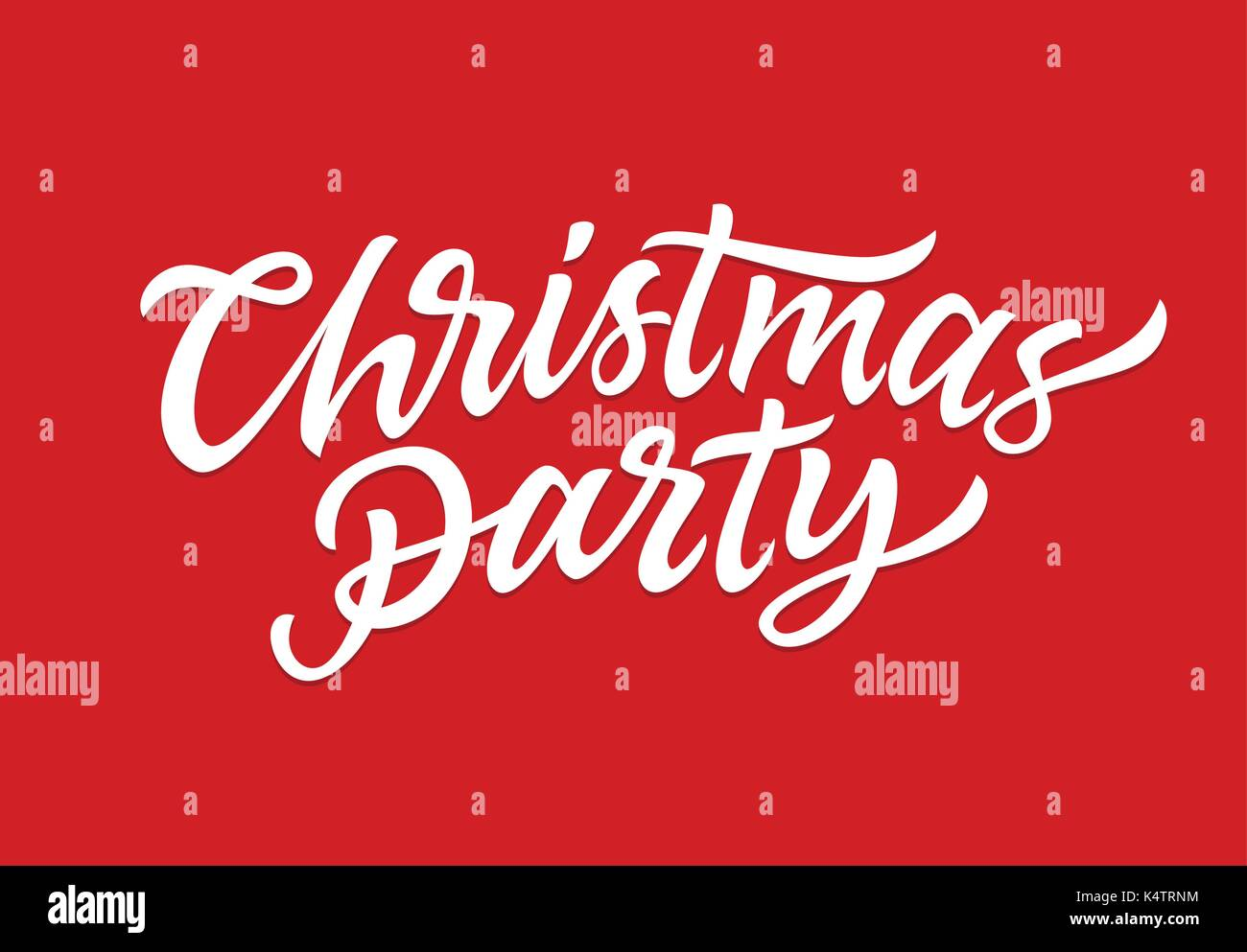 Christmas Party - vector hand drawn brush pen lettering design on ...