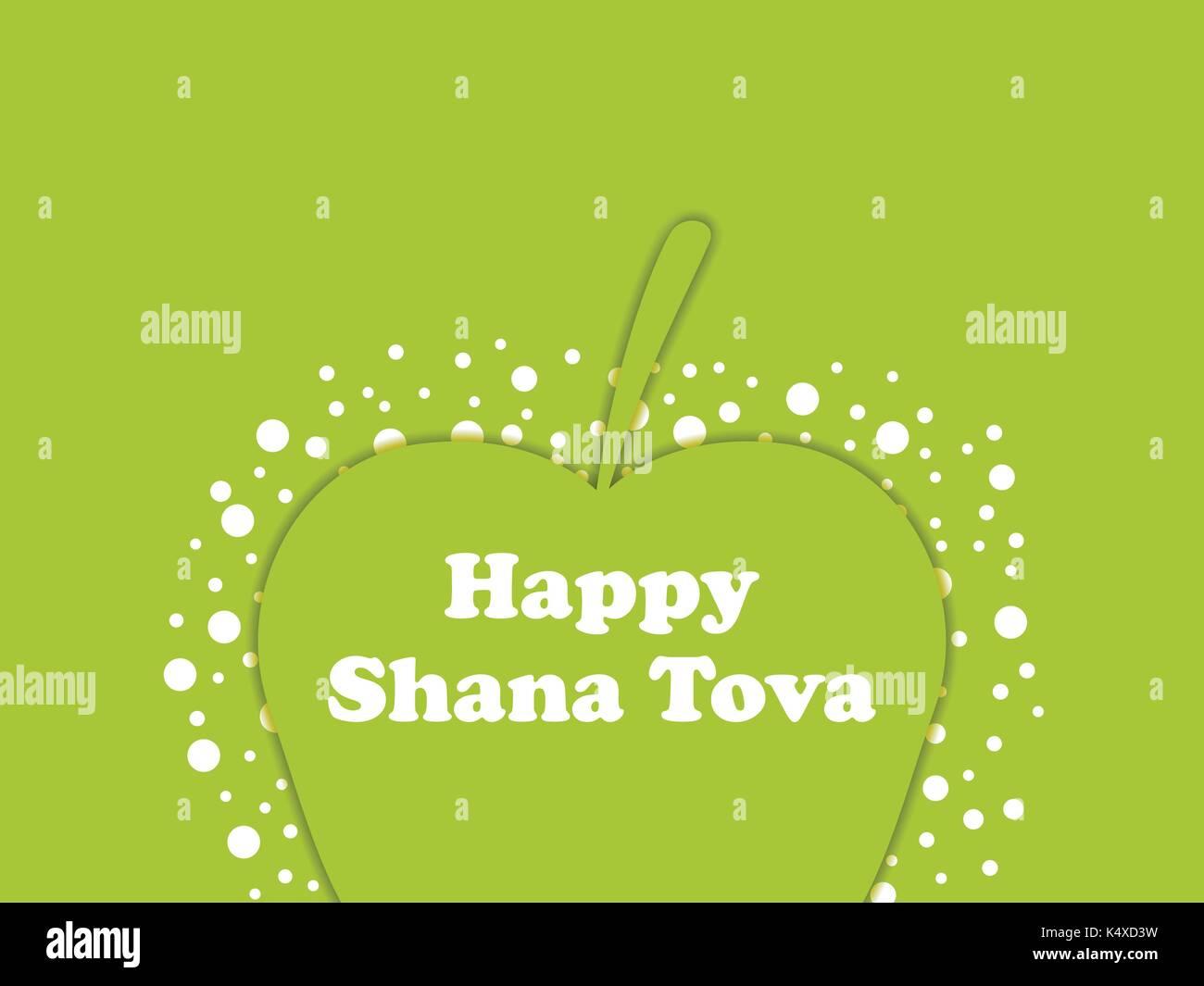 Rosh Hashanah Greeting Card Design Jewish New Year Shana Tova