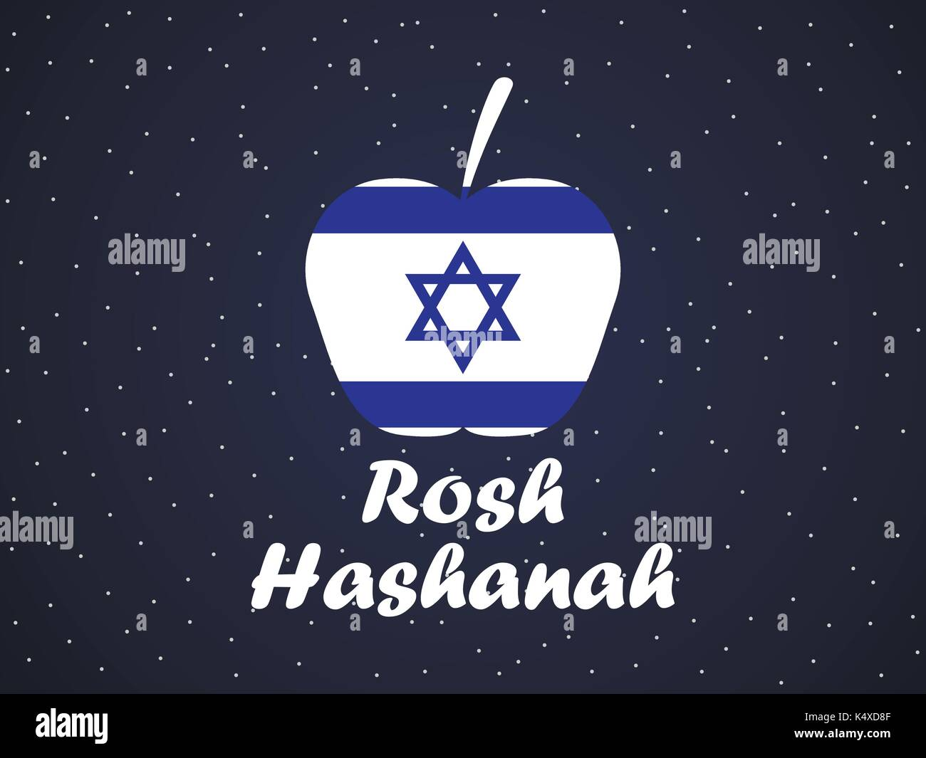 Rosh hashanah greeting card design jewish new year shana tova rosh hashanah greeting card design jewish new year shana tova israel flag and apple vector illustration kristyandbryce Choice Image